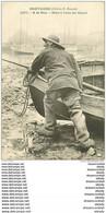 WW 56 BRETAGNE. Pêcheur à La Mer Mise à L'eau D'un Canot Vers 1900 - Sin Clasificación