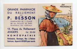 - CALENDRIER 1954 GRANDE PHARMACIE DU RALLIEMENT - P. BESSON, ANGERS - EN PROVENCE - - Petit Format : 1941-60