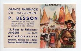 - CALENDRIER 1954 GRANDE PHARMACIE DU RALLIEMENT - P. BESSON, ANGERS - EN BRETAGNE - - Petit Format : 1941-60