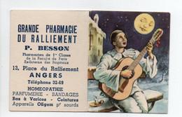 - CALENDRIER 1954 GRANDE PHARMACIE DU RALLIEMENT - P. BESSON, ANGERS - Pierrot Au Clair De Lune - - Petit Format : 1941-60