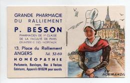 - CALENDRIER 1954 GRANDE PHARMACIE DU RALLIEMENT - P. BESSON, ANGERS - EN NORMANDIE - - Petit Format : 1941-60