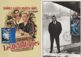 Cinéma : Lot De 2 Cartes Maximum : Yves Montand Et Simone Signoret - Film