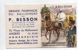 - CALENDRIER 1955 GRANDE PHARMACIE DU RALLIEMENT - P. BESSON, ANGERS - LA BELLE EPOQUE - - Petit Format : 1941-60