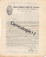 75 23026 PARIS SEINE 1902 CHASSE - SAINT HUBERT CLUB DE FRANCE Duschesse Uzes Clary Caillard Desnues Sargnon Masclef Pen - 1900 – 1949