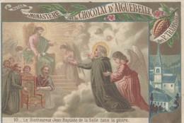 CHROMO CHOCOLAT D'AIGUEBELLE LE BIENHEUREUX JEAN-BAPTISTE DE LA SALLE DANS LA GLOIRE - Aiguebelle