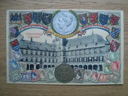Représentation Du Timbre - Carte Gaufrée - Nederland Hollande Pays-Bas -Je Maintiendrai - Timbres - - Stamps (pictures)