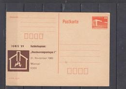 GERMANIA  Rep. Democratica   1989 .  IGNIS '89  - Postkarte - Privatpostkarten - Ungebraucht