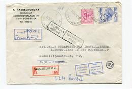 1974 R-envelop Met Postaanduidingen - Retour En Andere - WOMMELGEM - BORSBEEK  - BRUSSEL - 1970-1980 Elström