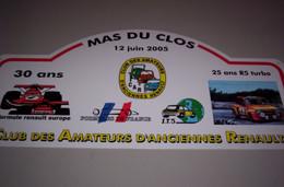 Collection Plaque Rallye Club CAR MAS DU CLOS 12/06/2005 - Targhe Rallye