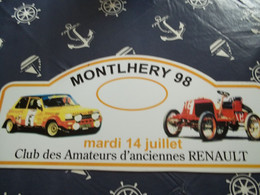 Collection Plaque Rallye Club CAR Circuit MONTLHERY  14/07/1998 - Targhe Rallye