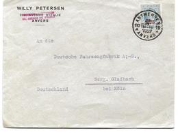 LETTRE POUR L'ALLEMAGNE 1927 AVEC TIMBRE A SURTAXE - Brieven En Documenten