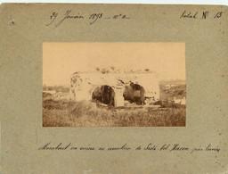 PHOTO ANCIENNE - ALGERIE Marabout Ruine Cimetiere Sidi Belhassen Pres Tunis 1893 - Old (before 1900)