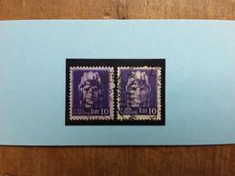 LUOGOTENENZA - 10 Lire Con E Senza Filigrana - Nn. 535-542 Timbrati + Spese Postali - Used