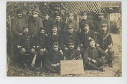 """ROMILLY SUR SEINE - GUERRE 1914-18 - Belle Carte Photo Portrait Militaires """"CAMPAGNE 1914 - LES VAGUEMESTRES DU.. - Romilly-sur-Seine"""