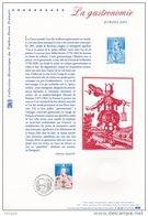 """"""" EUROPA 2005 : LA GASTRONOMIE """" Sur Document Philatélique Officiel De 2005 N° YT  3784. DPO - 2005"""