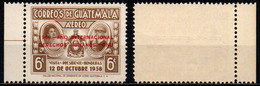 "GUATEMALA - 1968 - Overprinted In Carmine: ""1968. — ANO INTERNACIONAL / DERECHOS HUMANOS. — ONU"" - MH - Guatemala"