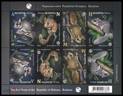 Weissrussland / Belarus / Biélorussie /BIAŁORUŚ 2021 MI.1403-06**,MA.1408-11,YVERT.. Fauna. Rodents MNH ** - Belarus