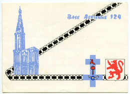 Strasbourg - Base Aérienne 124 - Carte Double - Voir Scan - Straatsburg