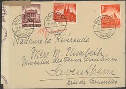 Germany - WWII, OKW  'geöffnet' Censor, Wallenfeld 1941 - Zaventem, Belgium. MiNr. 749, 755, 757 MiF - Covers & Documents