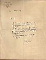 Autographe De  Jula Géris Danseuse - (Jula Elenbogen (nom De Naissance)) Plusieurs Coupures - Autographs