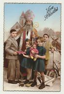 Carte Fantaisie St NICOLAS - Enfant Jouets Bateau  Trottinette  Poupée..... - Sinterklaas