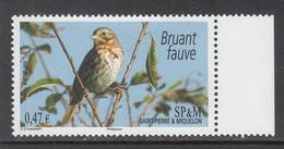 2009 SP&M Miquelon Birds Oiseaux Complete Set Of 1 MNH - Uccelli Canterini Ed Arboricoli