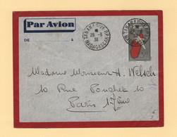 Madagascar - Tananarive - Entier Postal - 1938 - Destination France - Cartas
