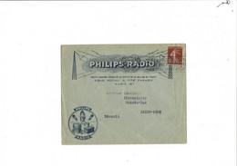 Enveloppe  PHILIPS - RADIO  PARIS  1928 - 1921-1960: Modern Period