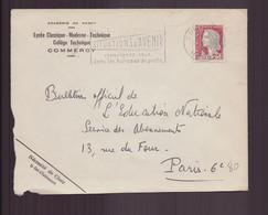 """France, Fragment Enveloppe à En-tête """" Lycée Classique, Collège Technique """" Du 20 Janvier 1964 De Commercy Pour Paris - Brieven En Documenten"""