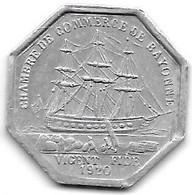 *bayonne  50 Centimes  1920 Alu 5 - Monetari / Di Necessità