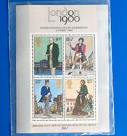 UK Royaume Uni Londres LONDON 1980 Grande-Bretagne> Blocs-feuillets Bloc De 4 Timbres Neufs** MNH-Timbres No 2 Europe - Blocks & Kleinbögen