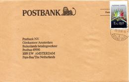 ONU-GENEVE. N°152 De 1987 Sur Enveloppe Ayant Circulé. Oeuvre De Mathieu. - Covers & Documents