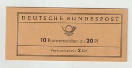 Bundesrepublik Deutschland - 1963 - Markenheftchen Mi. 9v (dicker Deckel) ** (2302) - Blocchi