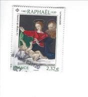 Série Artistique Personnalité 500ème Anniversaire De La Mort De Raphaël 5396 Oblitéré 2020 - Used Stamps