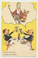 Carte Fantaisie Illustrée Humour St Nicolas - Illustrateur GSCHWIND - Très Bon St Nicolas, Prolongez Notre Célibat. - Saint-Nicholas Day