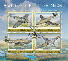 Maldive 2020 - Military Planes Of The Second World War - Aerei Militari -CTO - WW2