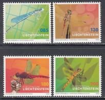 2020 Liechtenstein Dragonflies Insects  Complete Set Of 4 MNH @ BELOW FACE VALUE - Nuovi