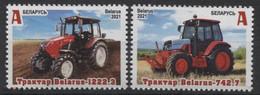 Weissrussland / Belarus / Biélorussie /BIAŁORUŚ 2021 MI.1409-10**,MA.1414-15,YVERT..  Tractors Belarus MNH ** - Wit-Rusland