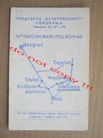 "Yugoslavia "" AUTOTRANSPORT "" Soko Banja / Bus Small Timetable With Calendar ( 1964 ) - Europe"