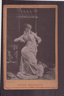 """Photo Sur Carton ( 16.5 X 10.5 Cm ) """" Sarah Bernhardt """" Photographe Edinger Paris - Célébrités"""