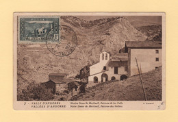 Andorre - Carte Maximum - Vallee D Andorre - 1937 - Cartas
