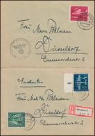 866-868 Luftpostdienst Satz Auf Bf. HANNOVER-BUCHHOLZ 1944 N. Düsseldorf - Unclassified