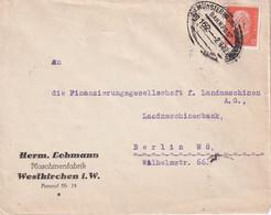 ALLEMAGNE 1932  LETTRE ZUGSTEMPEL MÜNSTER-WARENDORF - Brieven En Documenten