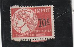 T.F Spécialités Pharmaceutiques N°8 - Revenue Stamps