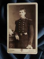 Photo CDV Poupat à Bourges  Militaire St Cyr  Brigadier Chef  CA 1880 - L557 - Oud (voor 1900)