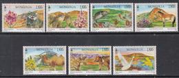 2019 Mongolia Landscapes Fish Birds Bears Camels Flora Fauna  Complete Set Of 7 MNH - Mongolia