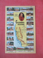 Map & Views Of - California  Missions       Ref 5009 - Sin Clasificación