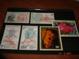 WALLIS ET FUTUNA    ANNEE  1986   NEUFS   N° YVERT 347 A 352   6 VALEURS      DIVERS - Collections (without Album)