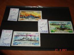 WALLIS ET FUTUNA    ANNEE  1978   NEUFS   N° YVERT 210 A 212   SERIE COMPLETE 3 VALEURS     NAVIRES DE GUERRE 1940-1944 - Collections (without Album)