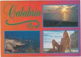 P5344 Calabria - Panorama Vedute Multipla - Ragazza Girl Femme Frau Chica Pin Up / Non Viaggiata - Other Cities